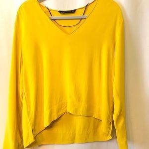 Zara Woman Hi-Lo Oversized Boxy Yellow Top M